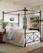 Класическо легло с балдахин от ковано желязо