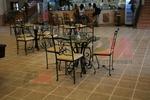 столове от ковано желязо за ресторанти за външно и вътрешно ползване