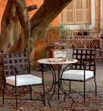 Изработка на столове от ковано желязо по поръчка