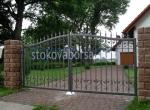 изработка на портални врати от ковано желязо