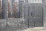 Порта с едно отварящо се крило от ковано желязо